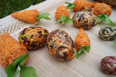 Пасхальные яйца из лозы. Ostereier aus Weide. Jajka wiekanocne wiklinowe.
