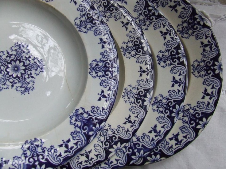 Blue china from Rouen.