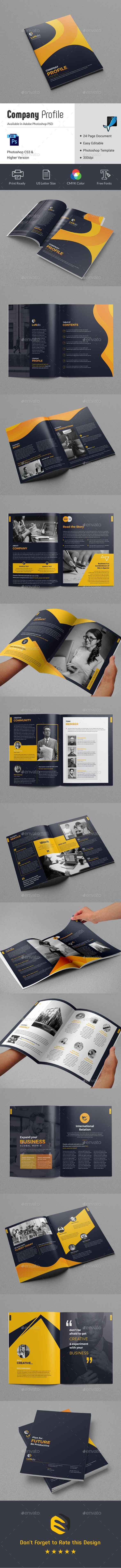 This Company Profile Template can be used for any business purpose or others Projects. All fonts, shape & other elements are very easy to customize... search tag: #Company #Profile - #Corporate #Brochures