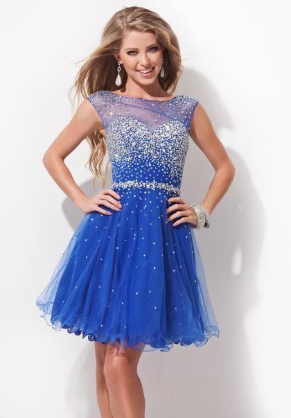 2014 Tony Bowls Short Homecoming Dress TS11477 at Peaches Boutique