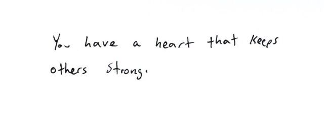 you kept my heart strong..but now you keep hers thriving..