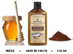 Olio di cocco, miele, cacao - maschera nutriente