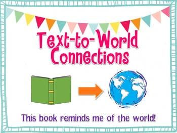 making connections text self world while reading posters graphic organizers activities. Black Bedroom Furniture Sets. Home Design Ideas