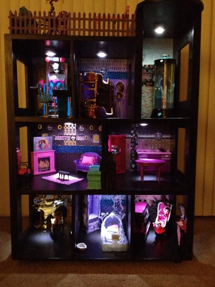 Monster High Dollhouse we made for my daughter for Christmas