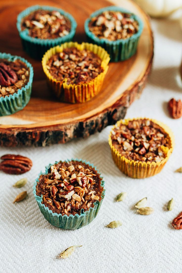 HEALTHY Baked Chai Oatmeal Cups. You'll love how easy they are to make and the cozy chai flavor.