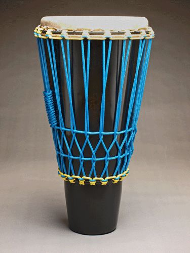 "Ashiko hand drum by JJ Savage, 24"" x 12"""