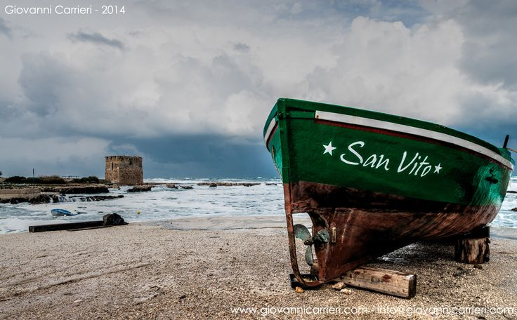 The storm of December 31, 2014 at San Vito - Fraction of Polignano a Mare