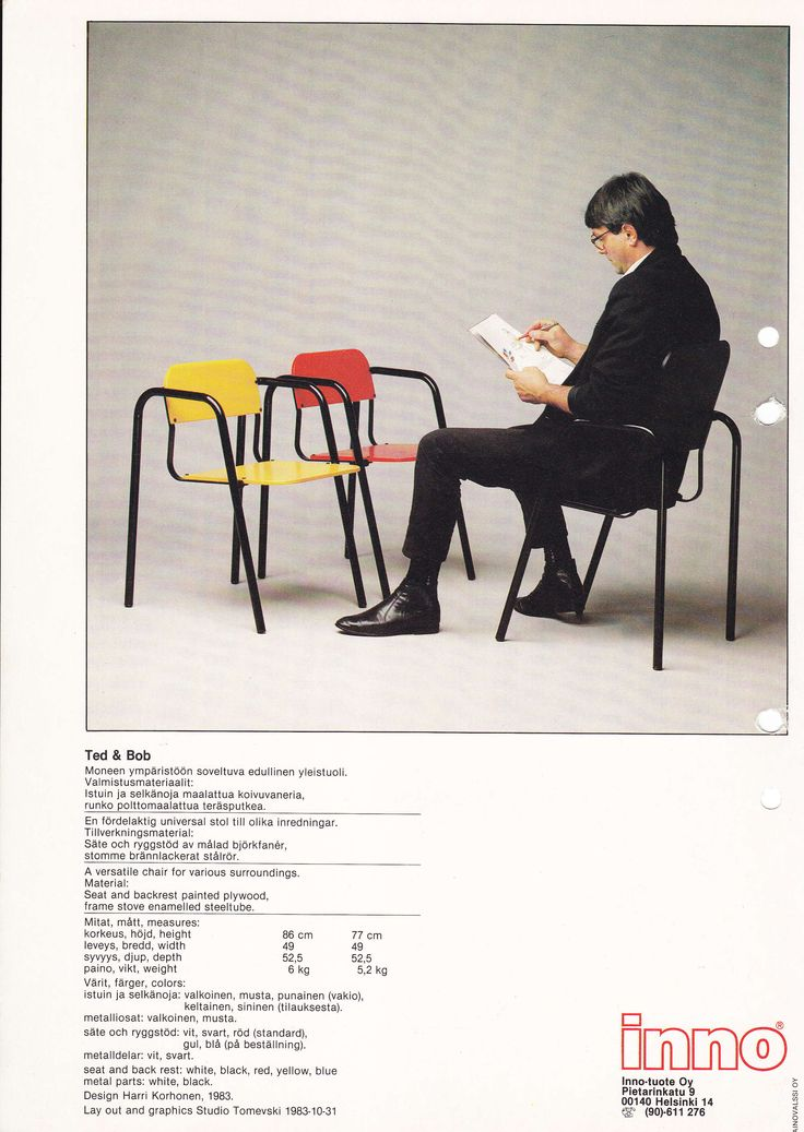 Ted & Bob*, design Harri Korhonen, 1983. *Collectors item.