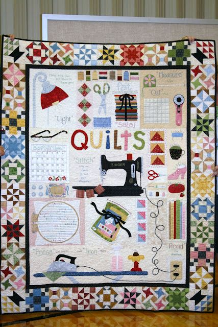 Pattern by Lori Holt called A Quilters World - amazing quilt! Isn't this so much fun !!