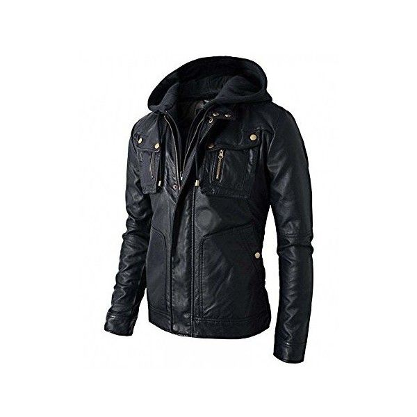 952a7690cb5 Superior Leather Garments Mens Slim Fit Hooded Biker Leather Jacket ...