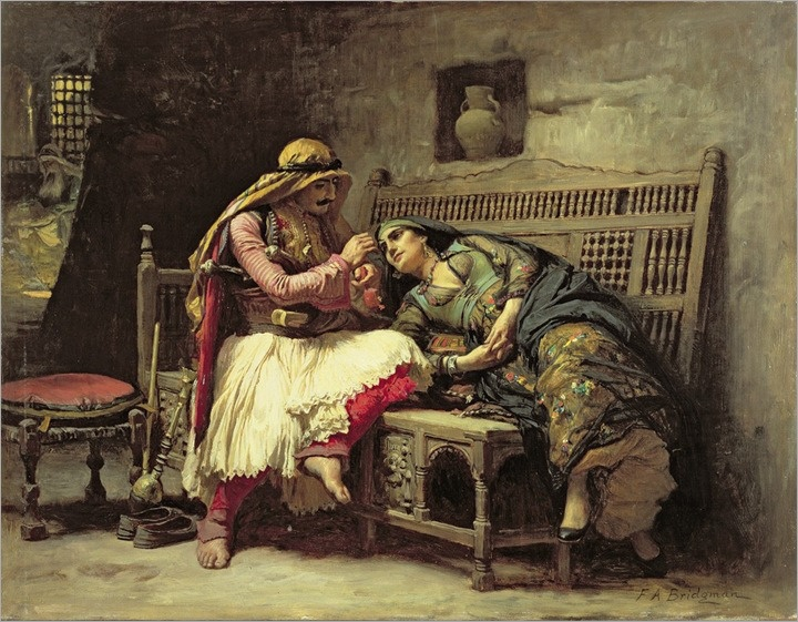 Frederick Arthur Bridgman (american) - Queen of the brigands