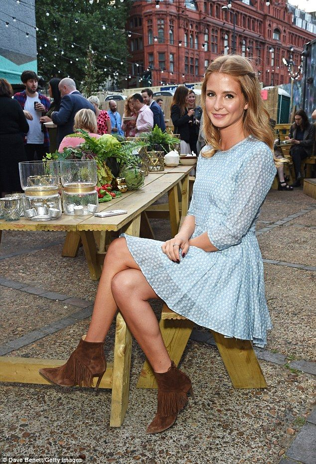 Millie Mackintosh shows off her legs in flirty mini dress #dailymail