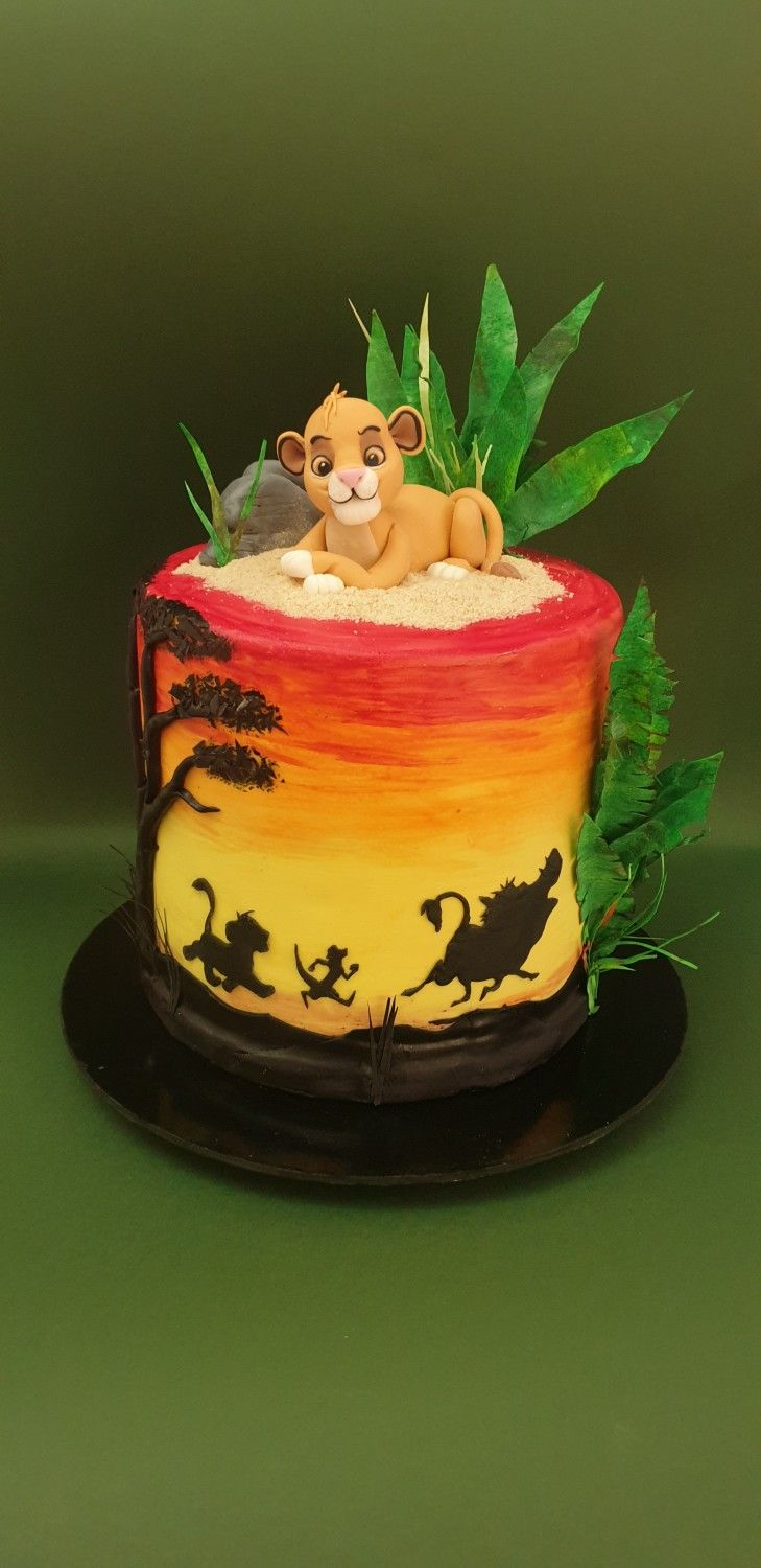 Lion King Cake By Iratorte With Images Lion King Cakes Lion