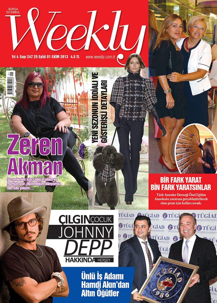 Bugün günlerden WEEKLY! Dergi okumak bu kadar kolay ve keyifli olmamıştı. Hemen okumak için; http://www.dijimecmua.com/weekly/8547/index/ yayında ve bayilerde...