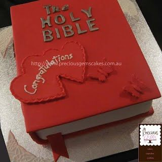 Bible Wedding cake created by Precious Gems Cakes Cupcakes Cookies, Sydney - 0411 176 533