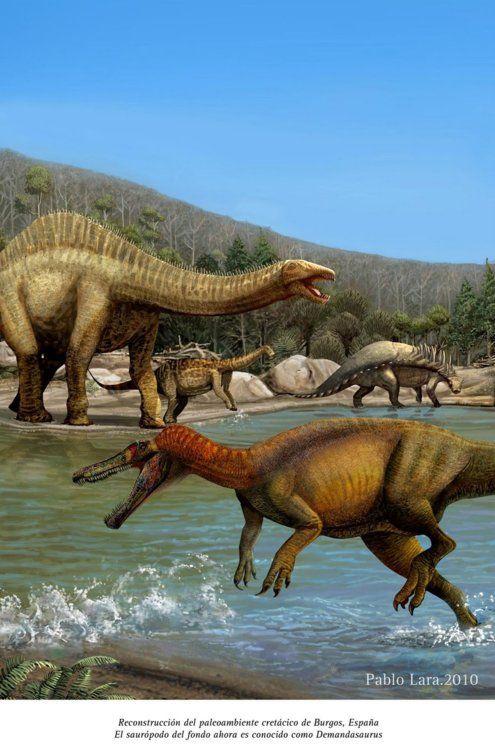 Baryonyx, Demandasaurus, an Polacanthus