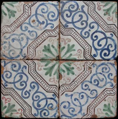 Sicilian old tiles Handmade tiles can be colour coordinated and customized re. shape, texture, pattern, etc. by ceramic design studios