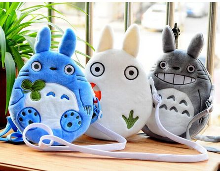 Kawaii 2016NEW- 3Models TOTORO 20CM Plush Cotton Lady Girl's Satchel BAG Children School Messenger BAG Kindergarten Shoulder BAG