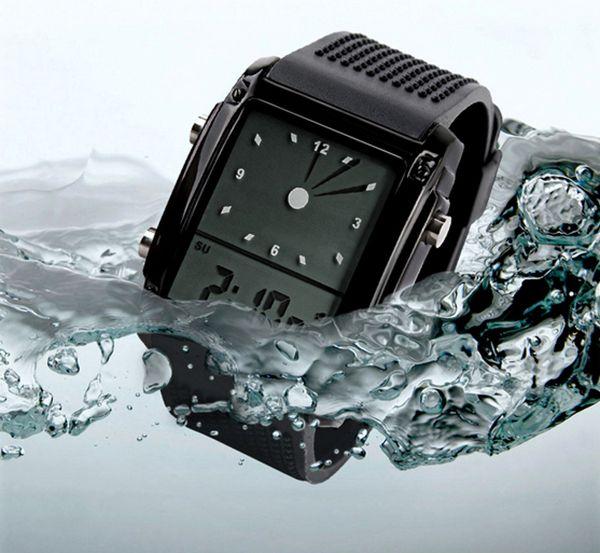SKMEI 0814 LED Model Square Military Men Women Unisex Waterproof Sport Watch