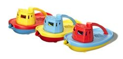 Green Toys Tugboat made in the USA from recycled milk containers. NO BPA, PHTHALATES or external coatings.