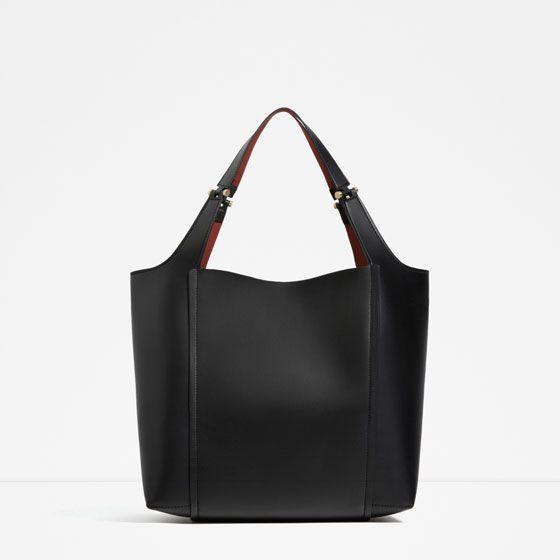 Image 1 of METALLIC DETAIL SHOULDER BAG from Zara
