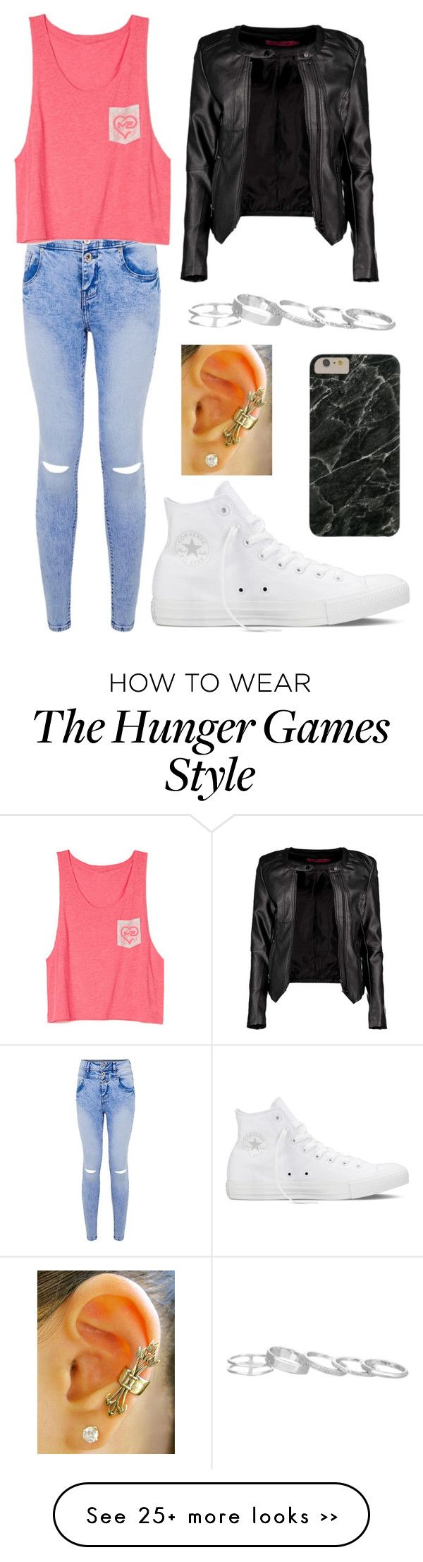 """Untitled #1681"" by picky-picky on Polyvore featuring Boohoo, Converse and Kendra Scott"