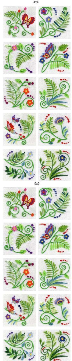 Jacobean Ferns Embroidery - Machine Design Details