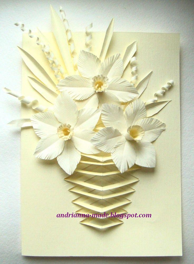 Открытка на 8 марта своими руками объемные, цветы