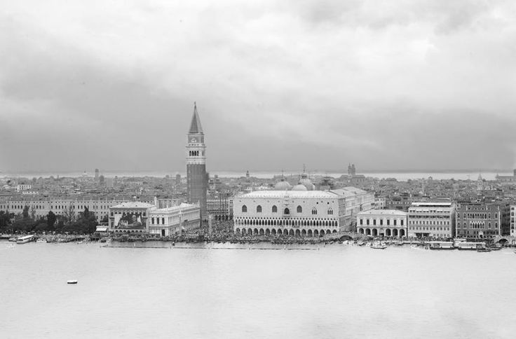 View of Venice, San Marco from a distance.  Unlimited edition. Printed on Fine Art Paper 50 x 70 (Paper size)  Signed by Fabio Bressanello