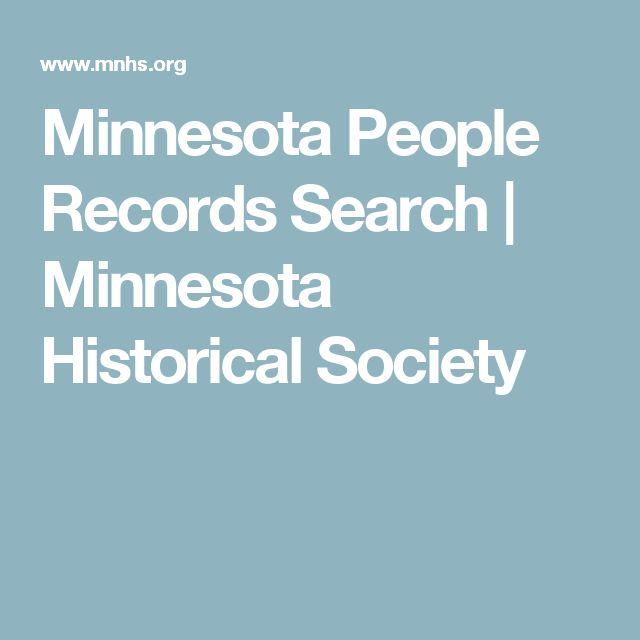 Minnesota People Records Search   Minnesota Historical Society