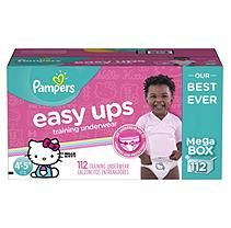 Pampers Easy Ups Training Pants for Girls, Size 4T/5T (112 ct.)