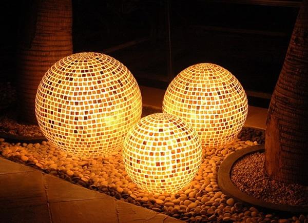 outdoor lights. so cool!: Lights, Disco Ball, Garden Ideas, Lighting Design, Outdoor Lighting, Outdoor Patios, Lighting Ideas, Mosaic