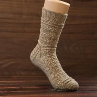 Smocked Guernsey Sock (Cuff-Down)