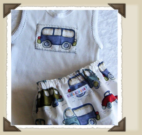 Nappy cover and singlet for boys
