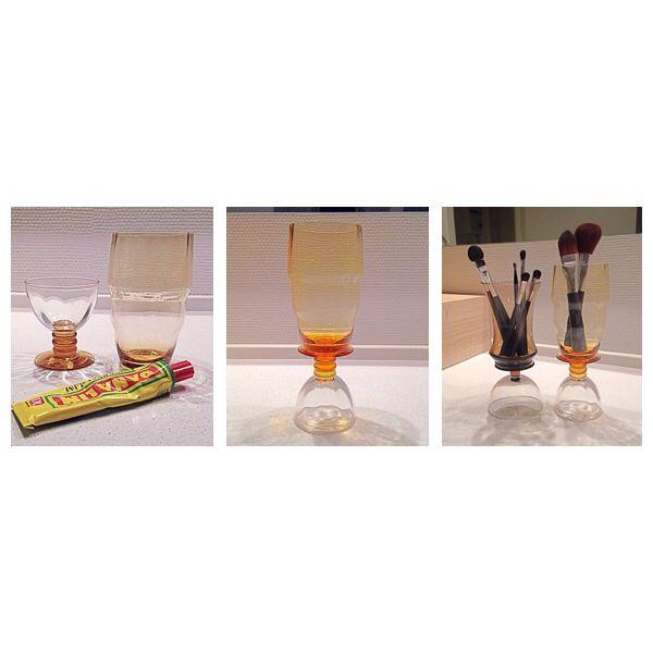 Glue vintage glass