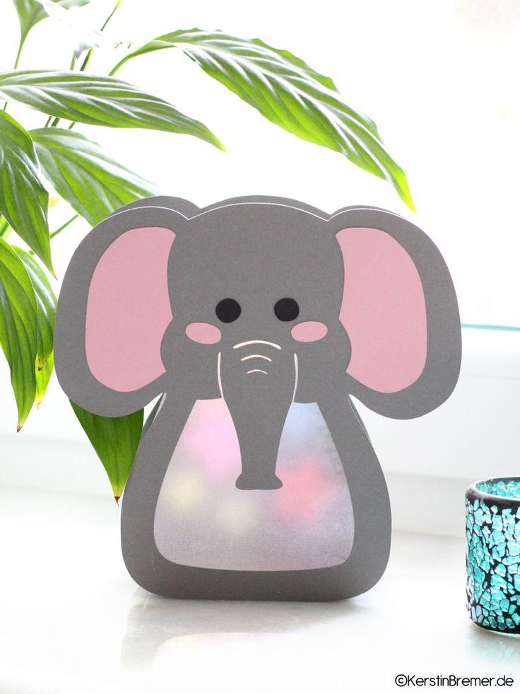 Ebook / Bastelanleitung Elefant Sterne Laterne