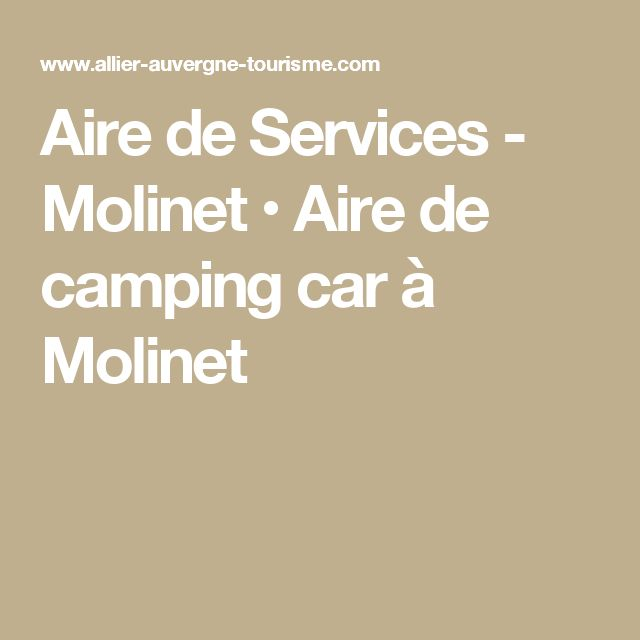 Aire de Services - Molinet • Aire de camping car à Molinet