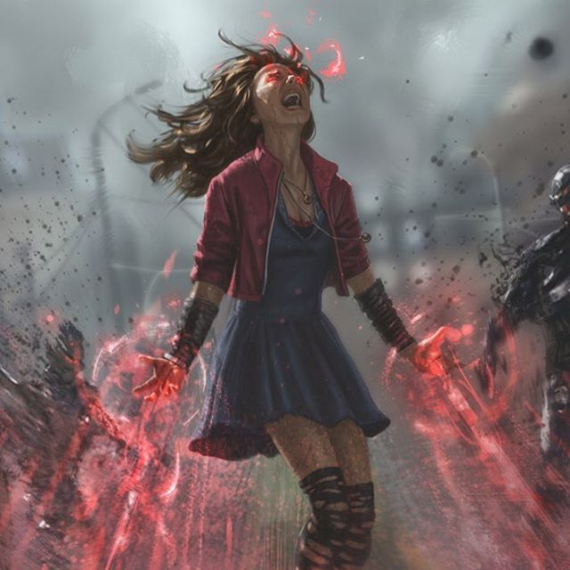 Scarlet Witch concept art. Red effects would be great reference for Red Alert- A… – Evelin Maria