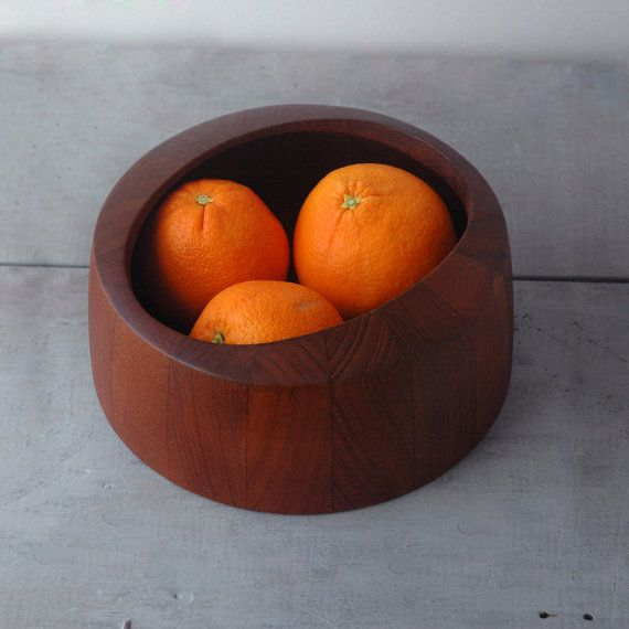 "Danish Teak ""O"" Bowl   (Jens Quistgaard for Nissen)"
