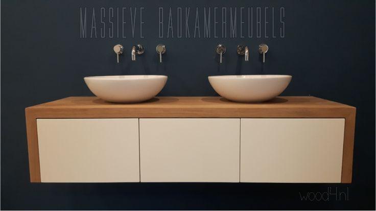 Voor maatwerk...voor een goed advies...voor iets moois...voor iets degelijks...voor iets eigentijds...voor de juiste sfeer...voor gewoon goed spul...WOOD4...badkamers met stijl  www.wood4.nl  #badkamer, #badkamermeubel, #massief, #hout, #styling, #Scandinavisch, #inrichting