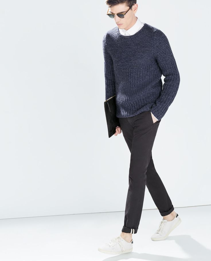 Image 1 of CHINOS WITH BELT from Zara