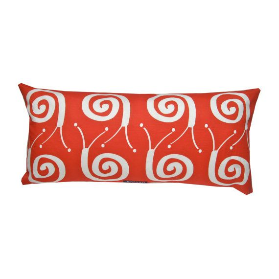 Snail pillow - scandinavian sparse whimsy. Available at www.etsy.com/shop/troskodesign