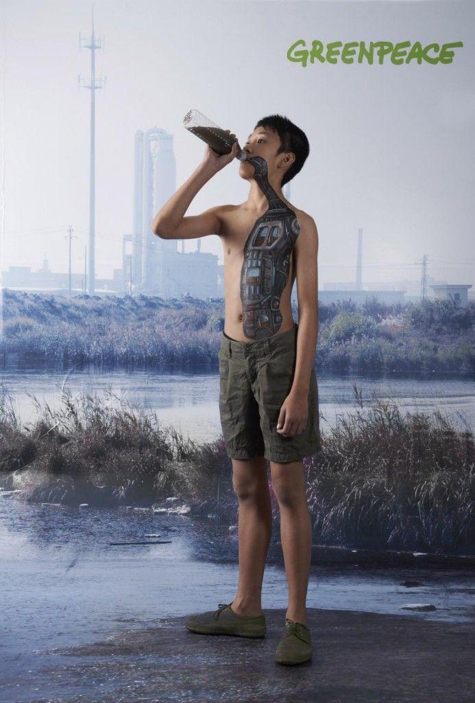 Greenpeace - Water for children   #ads #marketing #creative #werbung #print #advertising #campaign < found on www.saatchiblog.ru pinned by www.BlickeDeeler.de   Follow us on www.facebook.com/blickedeeler