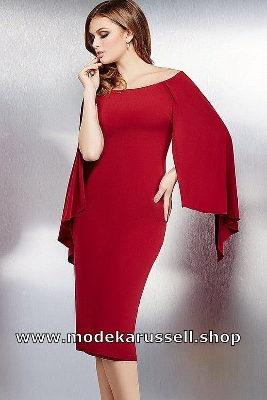 Bodycon Cocktailkleid Manou Knielang in Rot in 2020 ...
