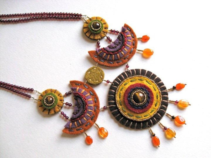 #statementnecklace #feltjewelry by Aimee Re