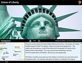 Virtual tour of the Statue of Liberty from the National Parks Service.