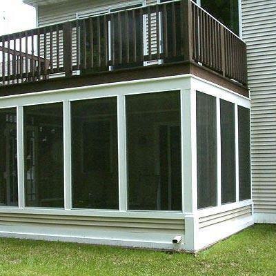 screen porch under existing deck | Archadeck Outdoor ...