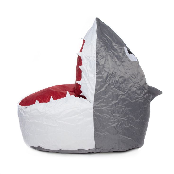 SHARK DESIGN BEAN SEAT Ideal Gaming Chair Grey And White Design Made From 100 Polyester