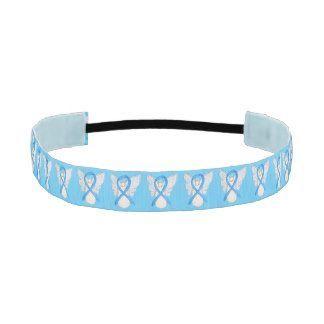 Prostate Cancer uses a light blue awareness ribbon. Light Blue Awareness Ribbon Angel Custom Headband