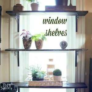 diy window plant shelves at diyshowoff.com